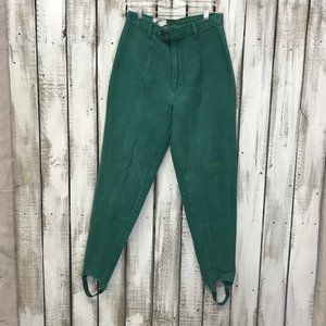 Vintage Cap Ferrat Teal High Rise Stirrup Pants